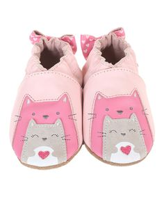 6ff8cef7f7 Another great find on  zulily! Pastel Pink Sweet Friends Leather Booties by  Robeez