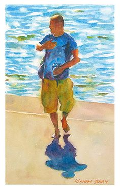 """Who me by Graham Berry Watercolor ~ 11"""" x 7"""""""