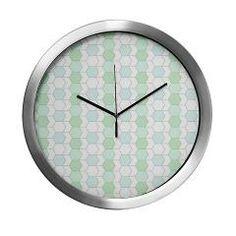 #allover #graphic soft aqua Modern #Wall #Clock> allover grapcic 2-more versions> #MehrFarbeimLeben