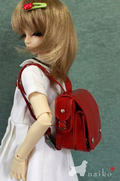 Naikohandmade bagThe new term school bag in Red for bjd by naiko2, $29.00