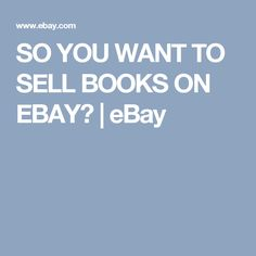 how to sell books on ebay