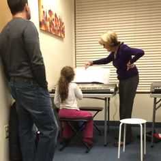 Candy and her amazing Keyboard II student. Keep up the good work!