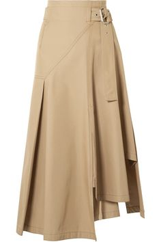 Camel twill Concealed hook and zip fastening at side 62% polyester, 38% cotton Dry clean Imported