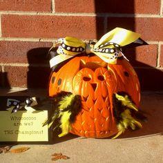 Owl carved pumpkin