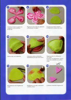 Revistas de manualidades Gratis: Revista de goma eva gratis Butterfly Crafts, Foam Crafts, Kids And Parenting, Crafts For Kids, Scrapbook, Diy, Stuffed Animals, Angel, Felt Dolls