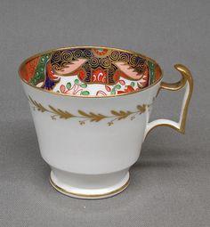 Cup (part of service), 1800-1830.  Josiah Spode period, Spode Manufactory.  Soft paste porcelain.  Metropolitan Museum of Art.