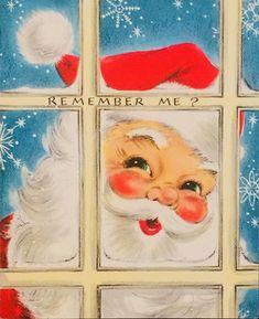 #retrochristmas, #santa, Vintage Christmas Card, Remember Me?