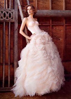 Bridal Gowns, Wedding Dresses by Lazaro - Style LZ3550   if only it had a different top... i love the skirt.