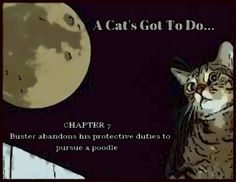 Pit of Shadows #fantasy CHAPTER 7: A CAT'S GOT TO DO. . . - Buster abandons his duties to pursue a poodle. Free Novels, Poodle, Shadows, Abandoned, Fantasy, Children, Cats, Books, Left Out