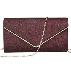 Labair Womens Shining Envelope Clutch Purses Glitter Evening Bag Handbags For Wedding and Party