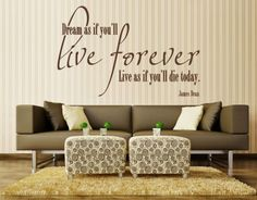 Live Forever - Wall Decals / Wall Quotes