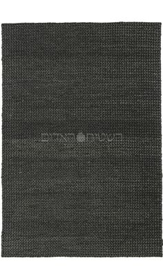 Black Handmade Jute Thick Weave Rug