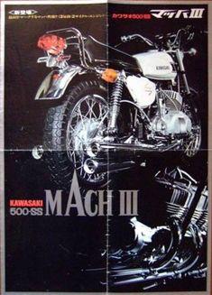 Kawasaki 500, Kawasaki Bikes, Racing Motorcycles, Vintage Motorcycles, Motorcycle Manufacturers, Bike Stuff, Brochures, Karma, Japanese