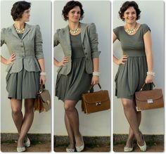 blog vitrine @ugust@ LOOKS | por leila diniz: vestido, casaqueto, maxi colar e bolsa maleta parecida c/a do sorteio + só DEUS basta