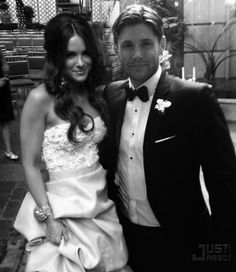 Jensen and Daneel Ackles--the boys real life wedding.  Both young men married very lovely women!