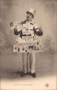 Vintage Postcards Seller!!! Original Rare 1900s Belle Epoque French Photo Postcard Fancy Gentleman Seling Unique Images from The Past!!!