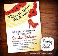 Wizard of Oz Printable Bridal Shower Invitation on Etsy, $20.00