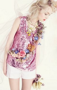 pink and sequins...love