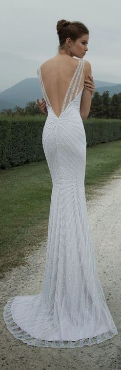 backless wedding dress #weddings #weddinggowns #weddingdress Berta Bridal Winter 2014 Collection