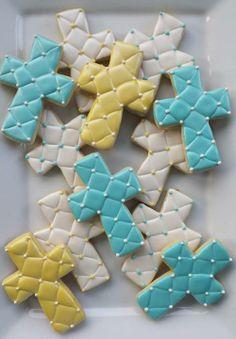 Edible Cookies, Iced Cookies, Cut Out Cookies, Easter Cookies, Royal Icing Cookies, Cupcake Cookies, Sugar Cookies, Cross Cookies, Easter Cross