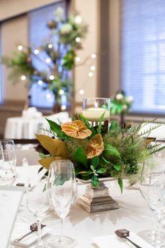 LAUGH & ROUGH / WEDDING | ARCH DAYS Wedding Decorations, Table Decorations, Table Flowers, Green Flowers, Tablescapes, Greenery, Wedding Flowers, Centerpieces, Table Settings