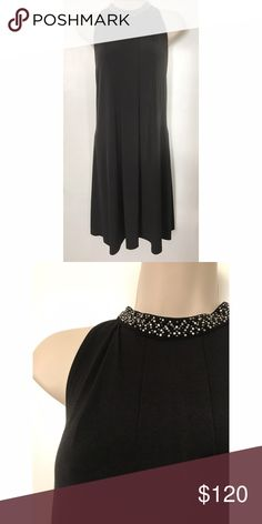 Calvin Klein Black Neck Jeweled Dress Size: 8 Condition: Perfect, no flaws. Please feel free to leave more picture requests or questions in the comments, I'll be happy to answer. Selling for a friend, price is firm. :) Calvin Klein Dresses
