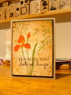 IC427 - Hugs by girlgeek101 -  Stamp Layering Technique Cards and Paper Crafts at Splitcoaststampers  CODE: Not applicable for Etsy sales.