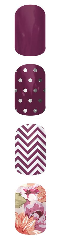 Plum colors. Great for winter!!! Plus they last up to 2 weeks on hands & 4 weeks on toes!!! Check out more here- http://FloridaNails.Jamberrynails.net