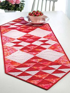 Flip And Stitch Quilt As You Go Table Runner Quilting