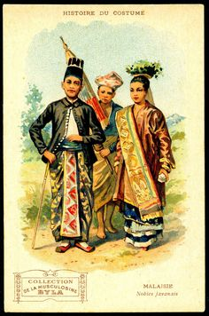 "Byla Costumes - Malaysia. Byla Musculosine. ""History of Costume"". c1910."