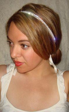 Crystal Headband - JEWEL, headband, rhinestone headband, hair accessories, halo headband, weddings, wedding headband. $46.00, via Etsy.