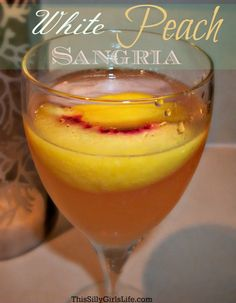 Perfect for a hot summer day, or anytime really LOL: White Peach Sangria recipe