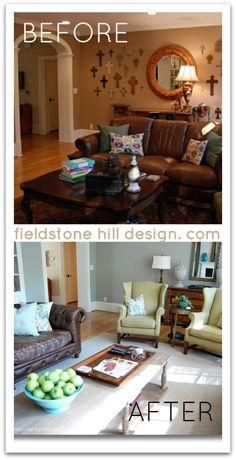 Tips from one of her client spaces :: an English Inspired before and after, via interior designer @FieldstoneHill Design, Darlene Weir Design, Darlene Weir Design, Darlene Weir