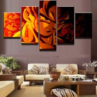 5 Pieces Dragon Balls Painting Canvas Wall Art Picture Home Decoration Living Room Canvas Print Modern Painting Modular Picture Art Painting Images, Art Paintings For Sale, Painting Frames, Painting Canvas, Living Room Canvas Prints, Canvas Wall Decor, Dragon Ball, Naruto Painting, Manga Dragon