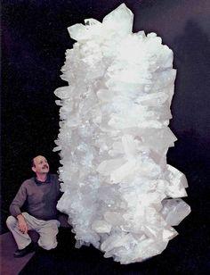 Giant quartz cluster via Sabrina Jordan. OK this is the largest quartz I've ever seen