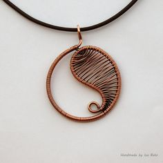 Pendant - Yin and Yang - Wire wrapped