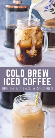 Learn how to make the best Cold Brew Iced Coffee at home and get your Iced Coffee fix this Summer. This Cold Brew Iced Coffee is smooth, bold and perfectly sweet.   Surprisingly easy to make.    Cheap and much healthier than one from the coffee shop. ------ #coffee #icedcoffee #coldbrewcoffee #healthy #easy #recipe #drinks #summerdrinks #summer Cold Brew Iced Coffee, Iced Coffee At Home, Coffee Shop, Gluten Free Bars, Easy Gluten Free Desserts, Kitchen Recipes, Baking Recipes, How To Make Ice Coffee, Morning Drinks