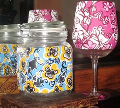 Theta and Alpha Phi Lilly Pulitzer crafts I made as Christmas presents... cant wait until AOII gets a print so I can plaster it all over everything!