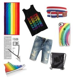 """Pride month? Proud to be one."" by echo-adi on Polyvore featuring Room Essentials, Hybrid, Converse, Brianna Lamar, Vineyard Vines, Casetify, NIKE, men's fashion, menswear and love"