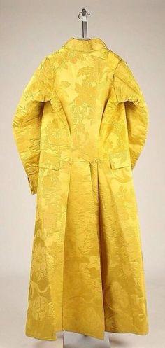 Banyan, circa 1780, British design, silk Tumblr thegentlemanscloset