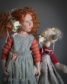 "<span style=""color: #d06e50;"">Crepes Suzette.</span> <span style=""color: #637f99;"">Коллекционная кукла Цвергназе с мишкой</span>"