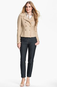 St. John Collection Sequin Metallic Knit Jacket available at #Nordstrom