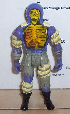 Super Naturals Skull Leader Action Figure Hologram Vintage 80's Tonka