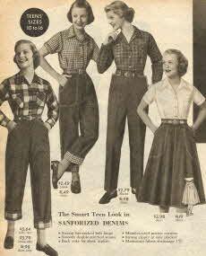 Teen Denim Fashions 1953