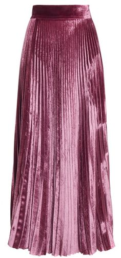 Velvet Pleated Skirt by Luisa Beccaria on ShopStyle.