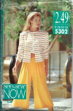 Butterick See & Sew 5302 Misses Jacket Top by DawnsDesignBoutique