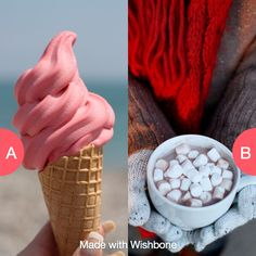 Ice cream in summer or hot chocolate in the winter? Click here to vote @ http://getwishboneapp.com/share/485996
