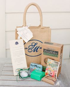 Vermont Inspired Welcome Bags | KT Merry Photography | Blog.theknot.com