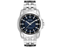 Men's Bulova Precisionist Watch in Stainless Steel with Blue Dial (96B159)