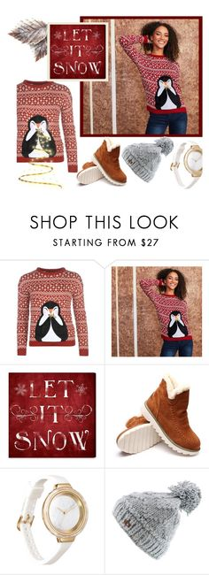 """""""Xmas Jumper"""" by yallyy ❤ liked on Polyvore featuring Oliver Gal Artist Co., RumbaTime, Roxy and xmasjumper"""